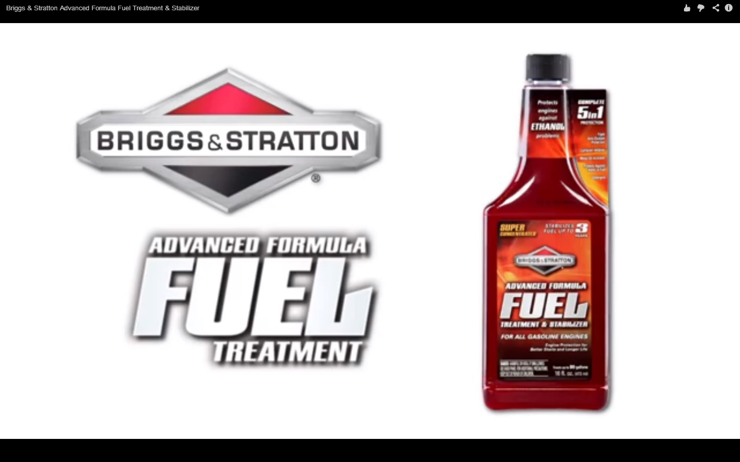 Briggs and Stratton Advanced Formula - click Link Below